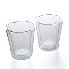 Canteen 6 oz Double Wall Insulated Glass Cup (Set of 2)