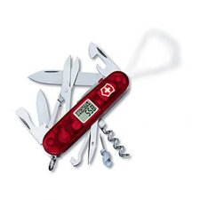 Traveler Multi-Tool Pocket Knife with LED Light in Red