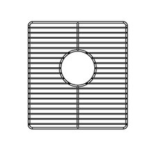 "<strong>Julien</strong> 12"" x 13"" Electropolished Grid for Kitchen Sink Bowl"
