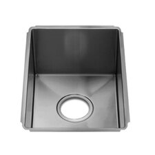"J7 10"" x 17.5"" Undermount Single Bowl Kitchen Sink"