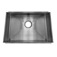 "Trapezoid 27.33"" x 17.5"" Undermount Single Bowl Kitchen Sink"