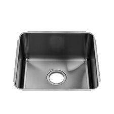 "Classic 17.5"" x 16"" Undermount Single Bowl Kitchen Sink"