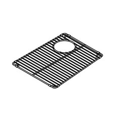 "<strong>Julien</strong> Trapezoid 12"" x 15"" Electropolished Grid for 13''x16'' Sink"