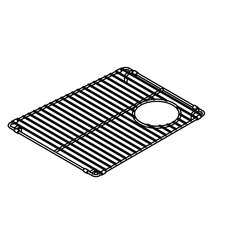 "Trapezoid 12"" x 15"" Electropolished Grid for 19''x16'' Sink Bowl"