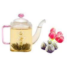 Romeo 0.53-qt. Premium Blooming Jasmine Tea Set