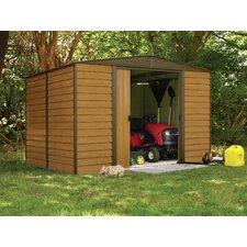 Euro Dallas 10' W x 8' D Steel Storage Shed