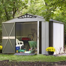 "Designer Series 10'3.25"" W x 8'3.5"" D Steel Stool Shed"