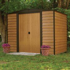 Euro Dallas 8' W x 6' D Steel Storage Shed