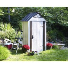 "Designer Series 4'6.1"" W x 3'0.1"" D Steel Tool Shed"