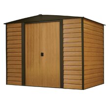 Euro Dallas 6' W x 5' D Steel Storage Shed