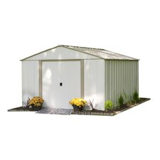 10.5' W x 13.5' D Oakbrook Steel Storage Shed