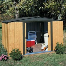 Woodlake 10' W x 8' D Steel Storage Shed