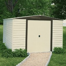 Dallas 10' W x 8' D Vinyl Coated Steel Storage Shed