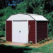 Barn 10' W x 8' D Steel Storage Shed