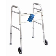 "<strong>Carex</strong> Dual Button Walker with 5"" Wheels"