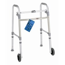"<strong>Carex</strong> Single Button Walker with 5"" Wheels"