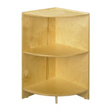 "Cubbie 36"" Curved Shelf  Corner 36""High in Natural"