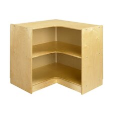 "<strong>A&E Wood Designs</strong> Cubbie ""L"" Shaped Corner Mobile Storage Unit in Natural"