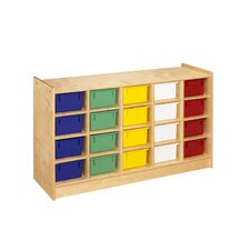 <strong>A&E Wood Designs</strong> Cubbie Mobile Twenty Compartment Tray in Natural