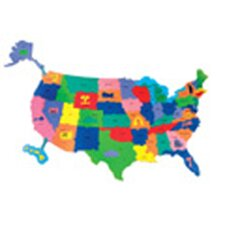 <strong>Chenille Kraft Company</strong> Giant Wonderfoam Us Puzzle Map