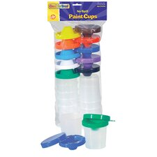 No Spill Paint Cups 10/pk Dual Lid