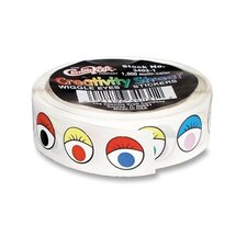 Wiggle Eyes Stickers, 1000 per Roll, Assorted