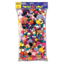 Pound of Poms, Assorted Size and Color