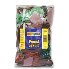 Pound of Felt, Assorted Size/Shape Remnants, Multicolored
