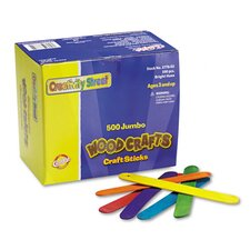 <strong>Chenille Kraft Company</strong> Jumbo Craft Sticks 500 Pcs Bright