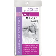 <strong>Fresh Ideas</strong> Satin Standard Pillow Protector 6-Pack