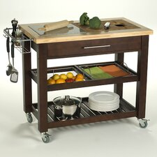 <strong>Chris & Chris</strong> Pro Chef Kitchen Cart with Granite Top
