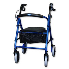 <strong>Invacare Supply Group</strong> Soft Seat Aluminum Rollator With Round Back