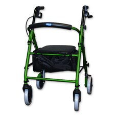 Soft Seat Aluminum Rollator With Round Back