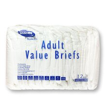 Value Series Adult Briefs in Beige