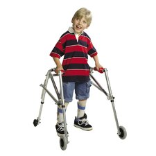 Wide Pre-Adolescent's Walker with Silent Wheels and Legs