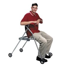 Large Walker with Built in Seat with Silent Wheels Legs Installed