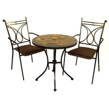Tobarra 3 Piece Round Dining Set
