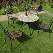 Alicante 5 Piece Round Dining Set