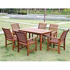 Tornio 7 Piece Rectangular Dining Set