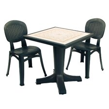 Giove 3 Piece Square Dining Set
