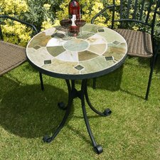 Orba Round Stone Bistro Table