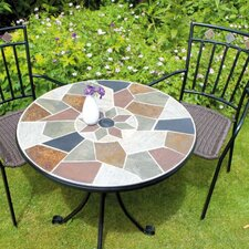 Pompei 3 Piece Round Standard Dining Set with Malaga Chair