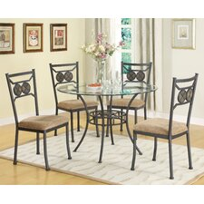 <strong>Anthony California</strong> Slate Stone 5 Piece Dining Set