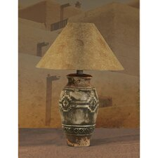 "28.5"" Table Lamp with Petro-glyphic Rustic Design"