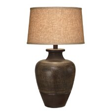 "30"" H Dark Sable Beige Table Lamp"
