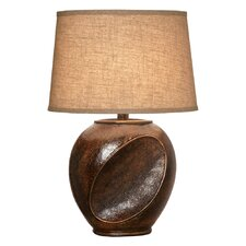 "26"" H Dark Walnut Table Lamp"