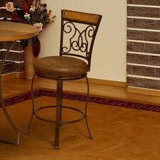 "<strong>Anthony California</strong> 29"" Swivel Bar Stool with Cushion (Set of 2)"