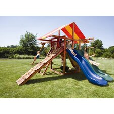 Redwood Big Top Swing Set