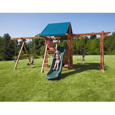 <strong>Kids Creations</strong> Redwood Grand Stand Swing Set