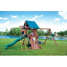 <strong>Kids Creations</strong> Redwood Two Ring Adventure Swing Set